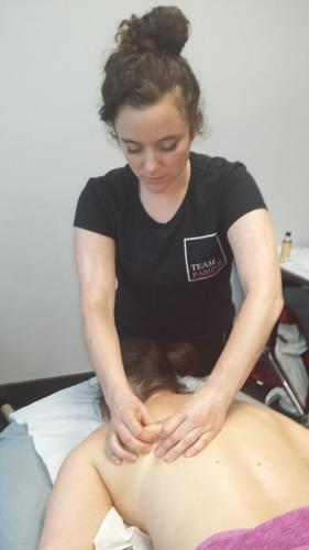 Sports massage at London Marathon 2017