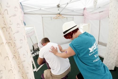 Onsite massage at F1 British Grand Prix