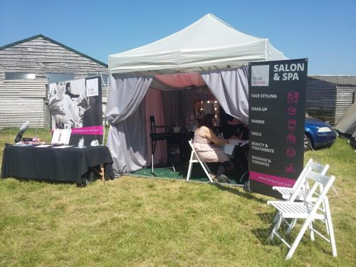 Festival Pop up Hair, Make up and Beauty Tent
