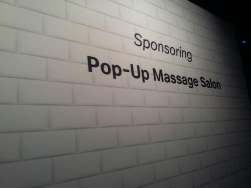 Pop up Massage Salon