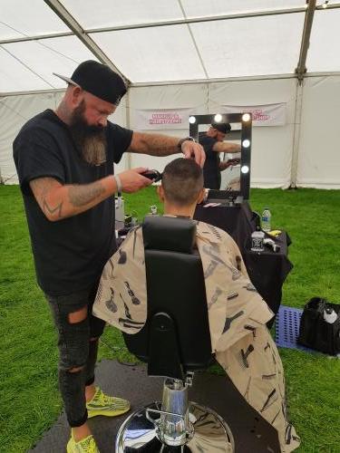 Pop up Barbers shop
