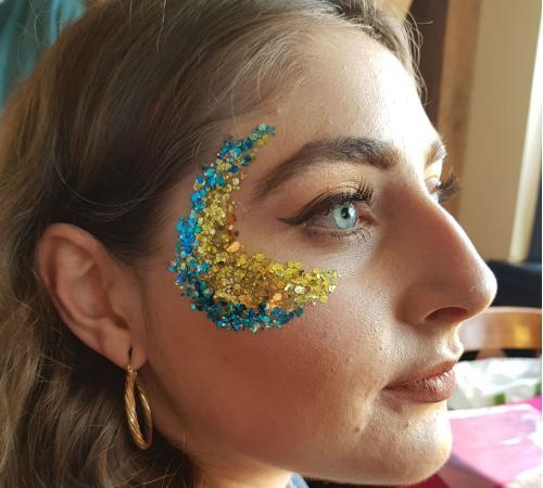 Glitter festival make up